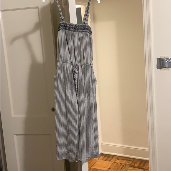 Target Dresses & Skirts - Dark gray and white jumpsuit